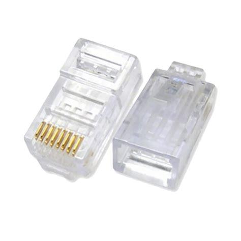 Conector Rj 45 Isi 50 Pcs Pack jual original cat5e konektor rj45 pack 50 pcs