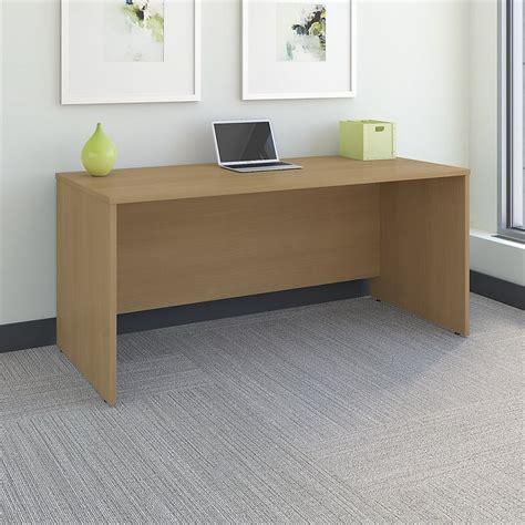 bush furniture series c 66 in office desk bush business series c 66 quot desk shell in light oak wc60342a