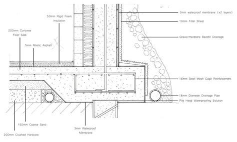 foundation wall section concrete foundation detail google search detailing