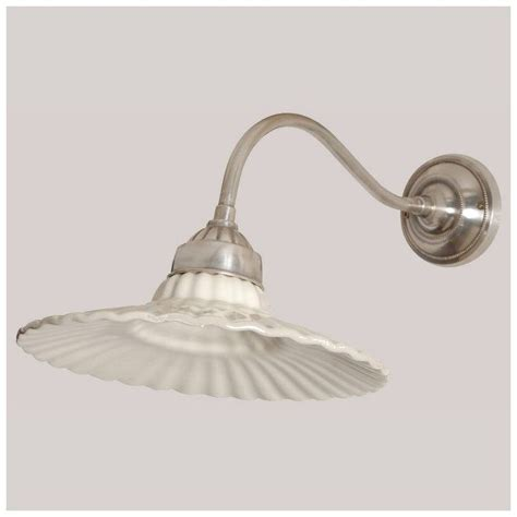 Applique Retro by Applique R 233 Tro Deco Nickel Abat Jour Porcelaine Luminaires