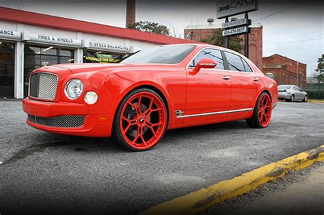 red bentley mulsanne wheels