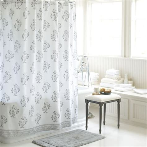 block print shower curtain ava block print shower curtain gray for the home