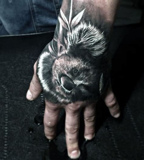 animal tattoo on hand 30 koala tattoo designs for men wild animal ink ideas