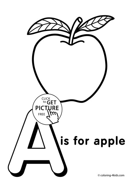 Letter A Coloring Pages Of Alphabet A Letter Words For A Coloring Pages