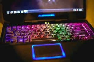 laptop colorful keyboard brilliant hues artsy rainbow
