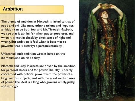 themes in macbeth ambition the major themes by basmah