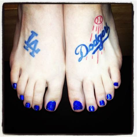 dodger tattoos 20 best la dodgers tattoos images on