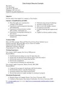 10 data analyst resume sle writing resume sle