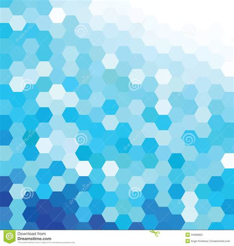 blue pattern background vector blue hexagonal pattern stock photography image 34996862