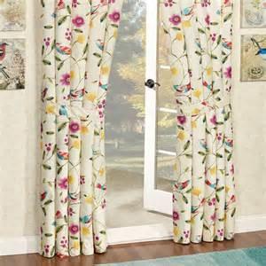 Curtains Birds Theme Sweet Tweet Bird Floral Window Treatment