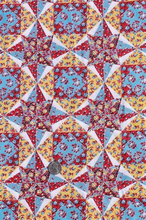 best printable fabric for quilts cheater patchwork quilt print cotton fabric vintage