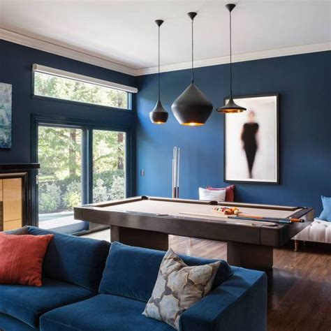room redo blue accent wall paint ideas   brown