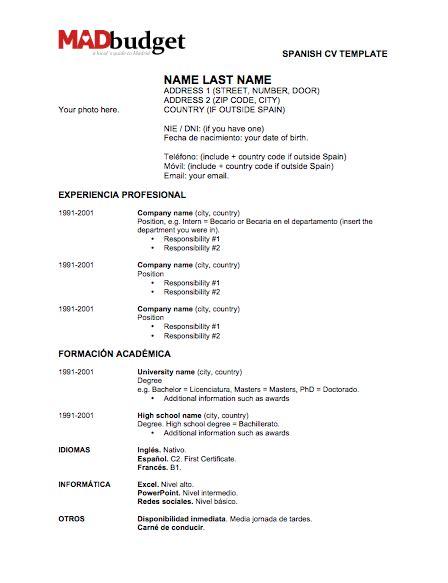 resume in spanish best resume templates libertyavenue spanish