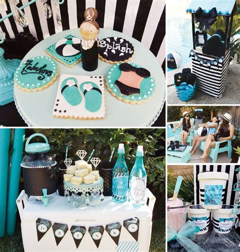 glam beach party old hollywood tiffany blue hostess 17 best images about black white turquoise inspiration