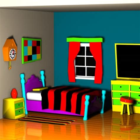 cartoon picture of a bedroom cartoon bedroom interior 3d max
