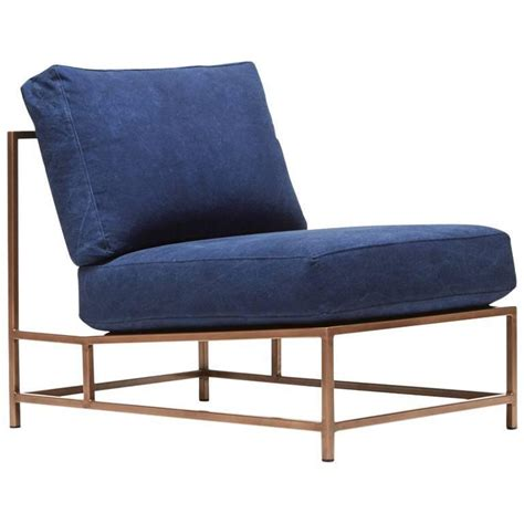 Canvas Chairs by Indigo Canvas And Antique Copper Chair For Sale At 1stdibs