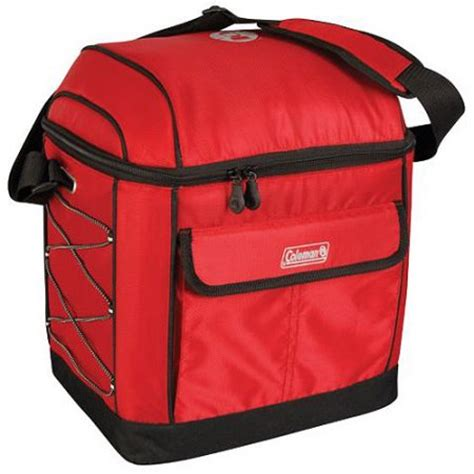 coleman 16 can cooler walmart coleman 16 can urban soft cooler with liner red walmart