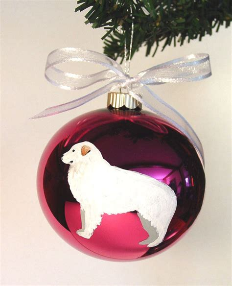 8 Great Ornaments For by Great Pyrenees Painted Ornament Can