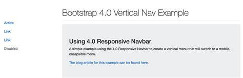 bootstrap themes vertical menu bootstrap 4 vertical menu jonathan briehl