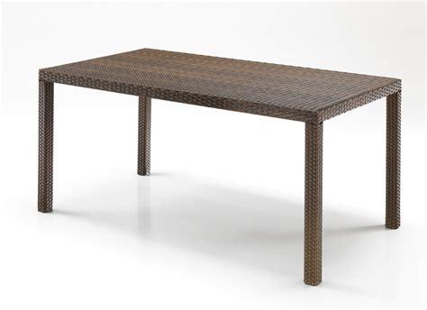 tavoli rattan tavolo rettangolare rattan marrone etnico outlet mobili