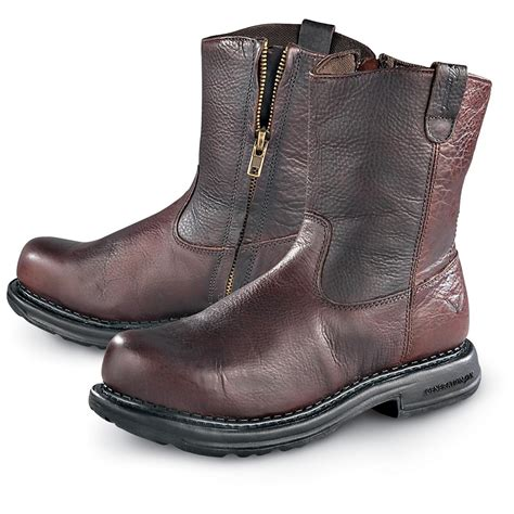 s thorogood 174 8 quot side zip wellington safety toe boots