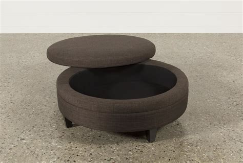 fabric round ottoman adler fabric large round storage ottoman living spaces