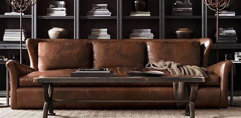 Leather Sofa Color Restoration Belgian Wingback Restoration Hardware Living Room Pinterest