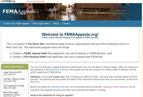 Appeal Letter To Fema Sle new website helps superstorm victims appeal fema