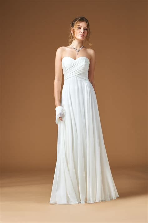 Chiffon Wedding Dress by Wedding Dresses Chiffon Strapless Bridesmaid Dresses