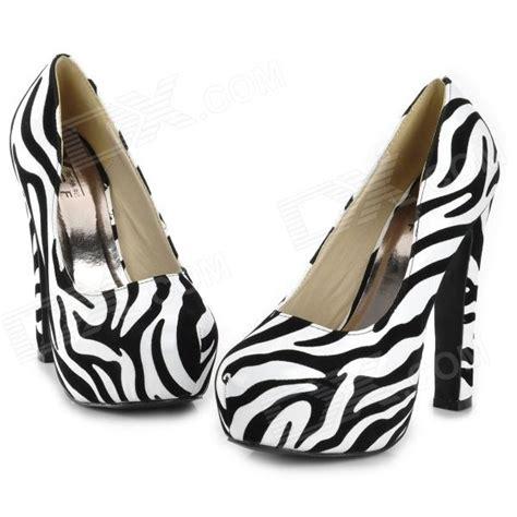 zebra pattern heels bmx 1 fashionable zebra stripe pattern pu leather high