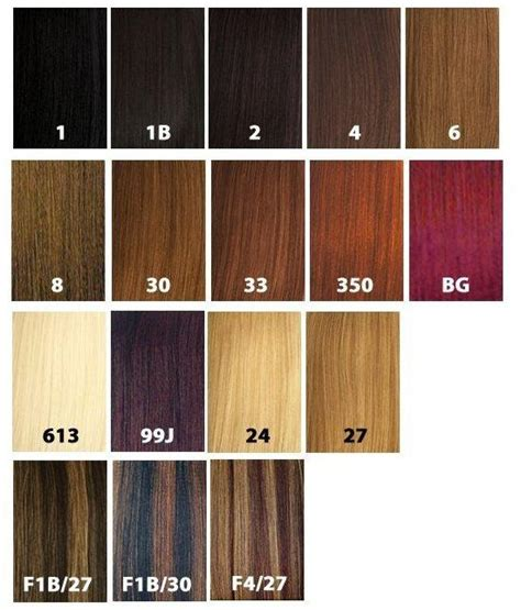 hair color chart for braids x pression ultra braid col 1