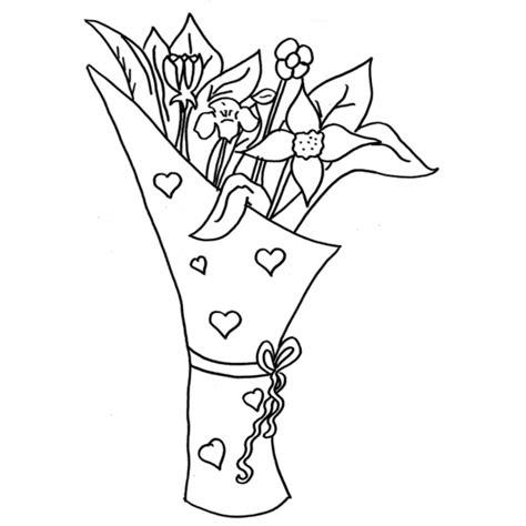 disegni di mazzi di fiori disegno di mazzo di fiori da colorare per bambini