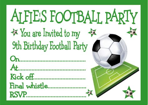 Football Invitation Template by Football Invitation Template Diabetesmang Info