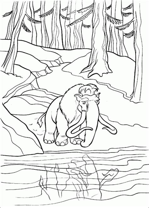 Ice Age Coloring Pages Coloringpagesabc Com Age Colouring Pages