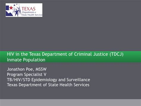 Department Of Criminal Justice Inmate Records Hiv In The Department Of Criminal Justice Tdcj Inmate Populat