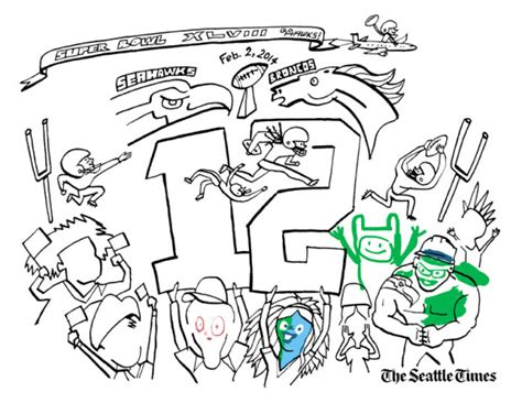Pin Seattle Seahawks Coloring Pages On Pinterest Seattle Seahawks Coloring Pages