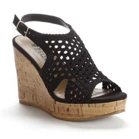 mudd crochet wedge sandals my style