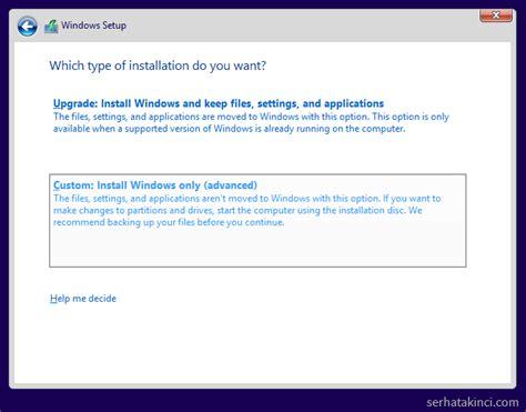 install windows 10 keep files windows 10 kurulumu