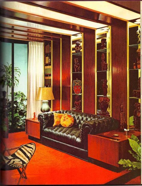 70s living room 70 s living room office library pinterest