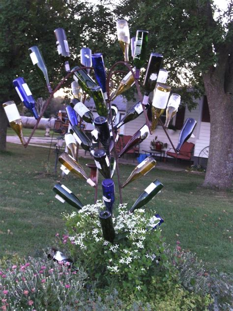 how to make a wine bottle tree home wine bottle trees