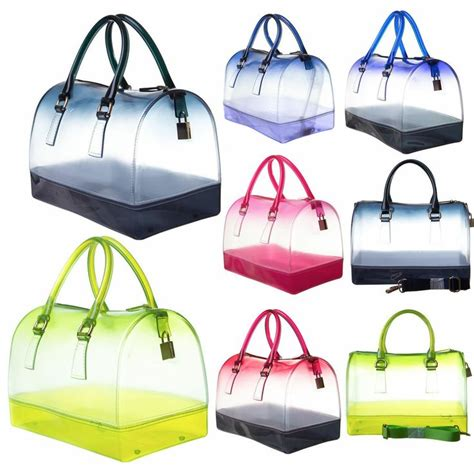 Furla Jelly 2 Tone details about jelly bag two tone hombre print see