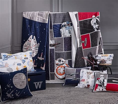 Wars Quilt by Organic Wars The Last Jedi Scenic Duvet Cover Pottery Barn