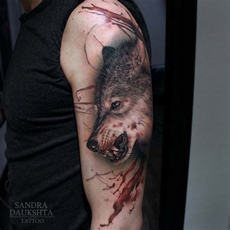 bloody tattoo designs bloody wolf best design ideas