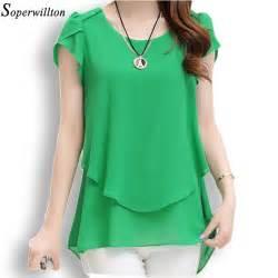 soperwillton 2016 new summer women blouse loose shirt o