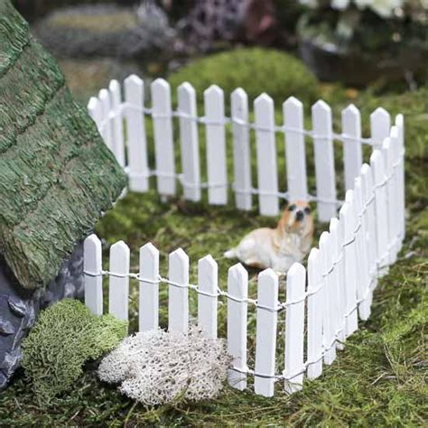miniature white wood picket fence fairy garden supplies