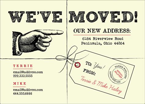 we ve moved postcards