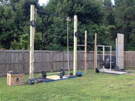 backyard fitness equipment crossfit outdoor gym now there is no excuse not to train