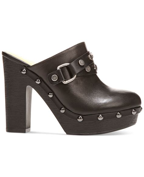 platform clogs for carlos by carlos santana floret studded platform clogs in