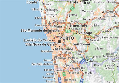 cartina porto map of porto michelin porto map viamichelin
