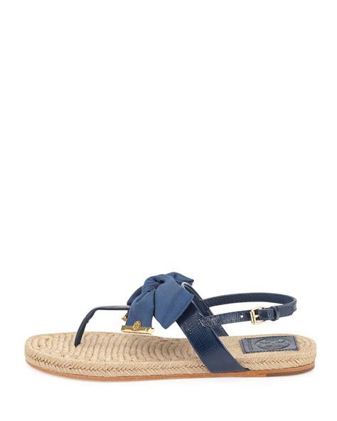 navy sandals for burch flat bow espadrille sandals newport